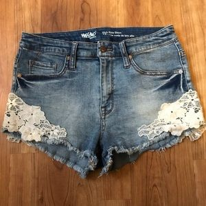 Mossimo High Rise Denim Jean Shorts Sz 8/29